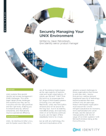 Securely Managing Your Unix Environment