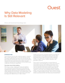 Why Data Modeling is Still Relevant