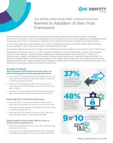 Global Survey Results 2020 - Executive Summary: Barriers to Adoption of Zero Trust