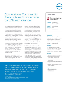 Cornerstone Community Bank; Cornerstone Community Bank cuts replication time by 67% with vRanger