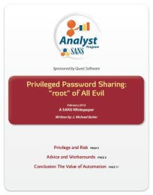 "Privileged Password Sharing: the ""Root"" of All Evil"