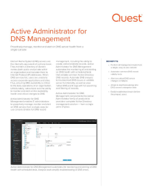 Active Administrator for DNS Management