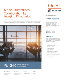 Airline streamlines collaboration by merging directories