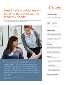 Allergy Partners;Healthcare provider meets growing data backup and recovery needs