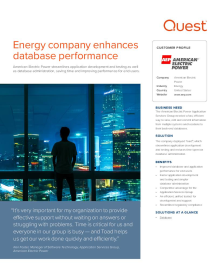 American Electric Power: Energy company enhances database performance