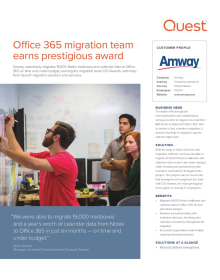 Amway: Office 365 migration team earns prestigious award