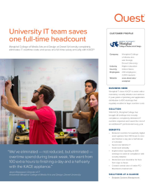 Antoinette Westphal College of Media Arts and Design at Drexel University: University IT team saves one full-time headcount