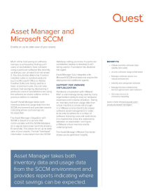 Asset Manager and Microsoft SCCM