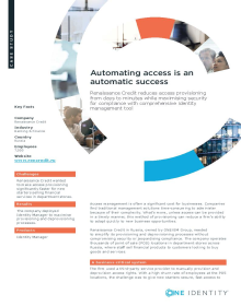 Renaissance Credit Automated access is an automatic success