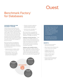 Benchmark Factory for Databases