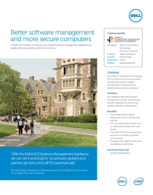 Princeton University - Office of Information Technology: Better software management and more secure computers