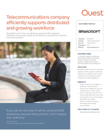 BroadSoft: Telecommunications company efficiently supports distributed and growing workforce