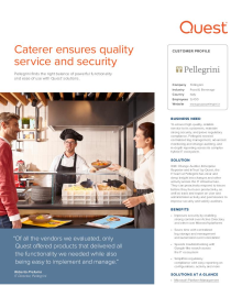 Caterer ensures quality service and security