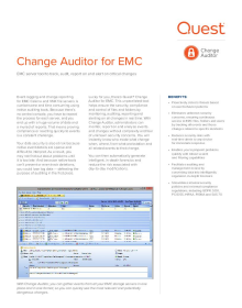 Change Auditor for EMC