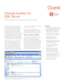 Change Auditor for SQL Server