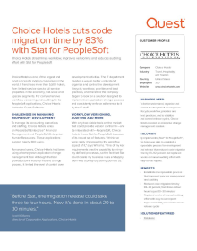 Choice Hotels cuts code migration time by 83% with Stat for PeopleSoft