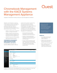 Chromebook management with the KACE Systems Management Appliance