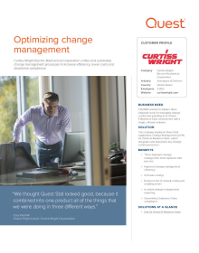 Curtiss-Wright Electro-Mechanical Corporation: Optimizing change management
