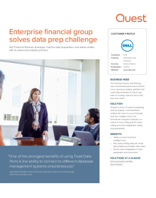 Dell: Enterprise financial group solves data prep challenge