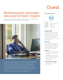 Dell: Marketing team automates data prep for faster insights