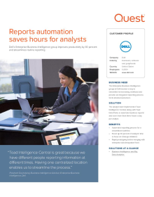 Dell: Reports Automation Saves Hours of Analysis