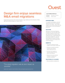 Design firm enjoys seamless M&A email migrations