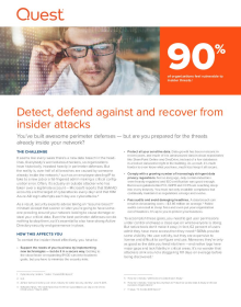Detect, defend against and recover from insider attacks