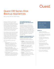 DR Series backup and deduplication appliances