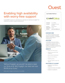 CommitDBA enables high availability with worry free support using Foglight for Databases