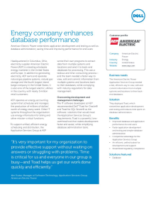 American Electric Power; Energy company enhances database performance
