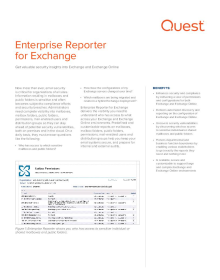 Enterprise Reporter for Exchange