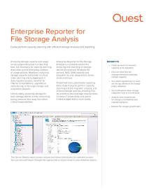 Enterprise Reporter for File Storage Analysis