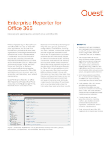 Enterprise Reporter for Office 365