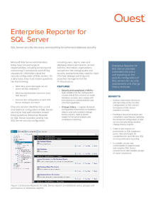 Enterprise Reporter for SQL Server