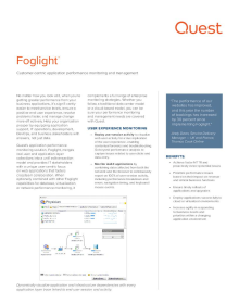 Foglight Application Performance Monitoring