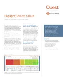 Foglight® Evolve Cloud