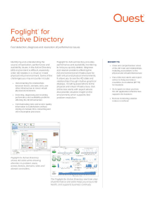 Foglight for Active Directory