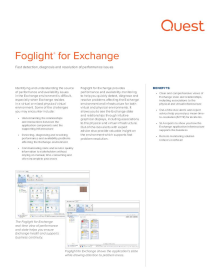 Foglight for Exchange