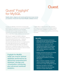 Foglight for MySQL