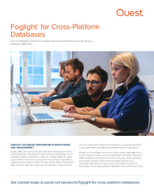 Foglight Solutions for Cross-Platform Database Performance Management