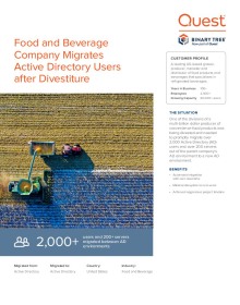 Food and Beverage Company Post-Divestiture Active Directory Migration