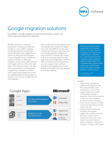 Google migration solutions
