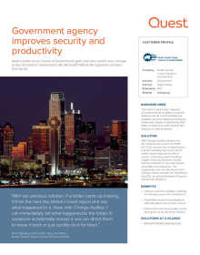 Government agency improves security and productivity