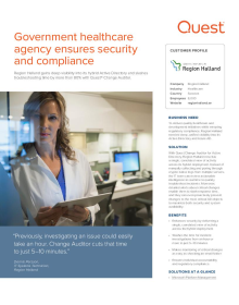 Government healthcare agency ensures security and compliance