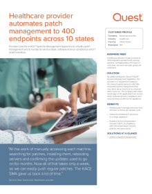 Healthcare provider automates patch management to 400 endpoints across 10 states