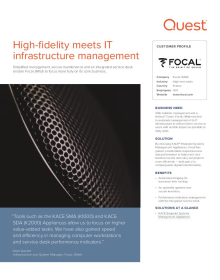 High-fidelity meets IT infrastructure management
