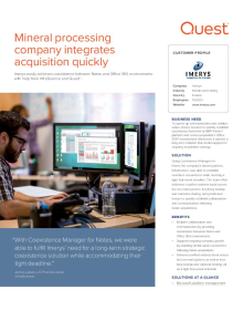 Imerys: Mineral processing company integrates acquisition quickly