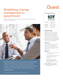 Indiana Office of Technology: Simplifying Change Management in Government