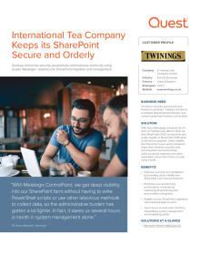 International Tea Company Keeps its SharePoint Secure and Orderly