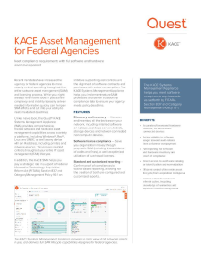 KACE Asset Management For Federal Agencies